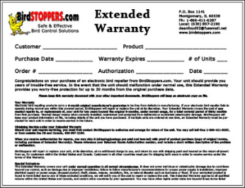 Extended Warranty Service