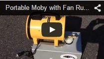 Video Portable Moby Hazer with fan